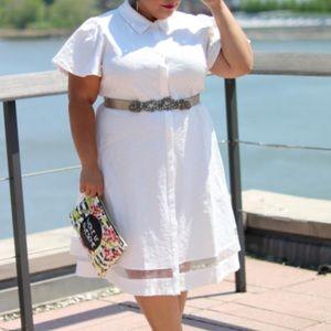 CHRISTIAN SIRIANO Lane Bryant NWT White ShirtDress